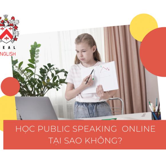 TUYỂN SINH KHÓA PUBLIC SPEAKING ONLINE THÁNG 6